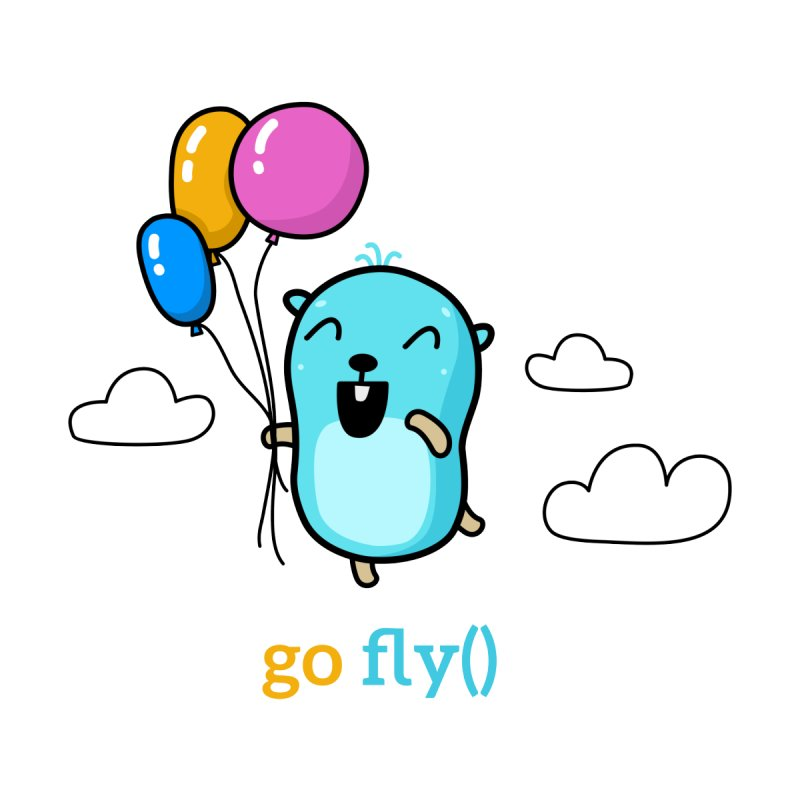 go fly() Accessories Bag by Be like a Gopher