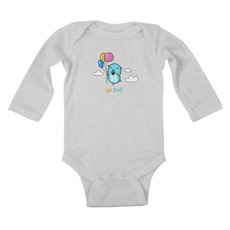 go fly() Kids Baby Longsleeve Bodysuit by Be like a Gopher