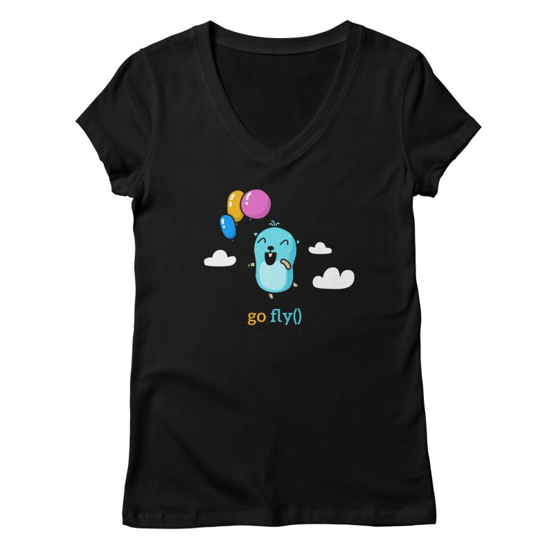 go fly() Women's V-Neck by Be like a Gopher