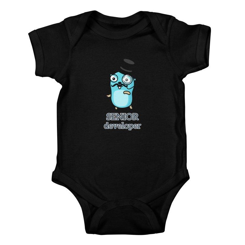senior developer Kids Baby Bodysuit by Be like a Gopher