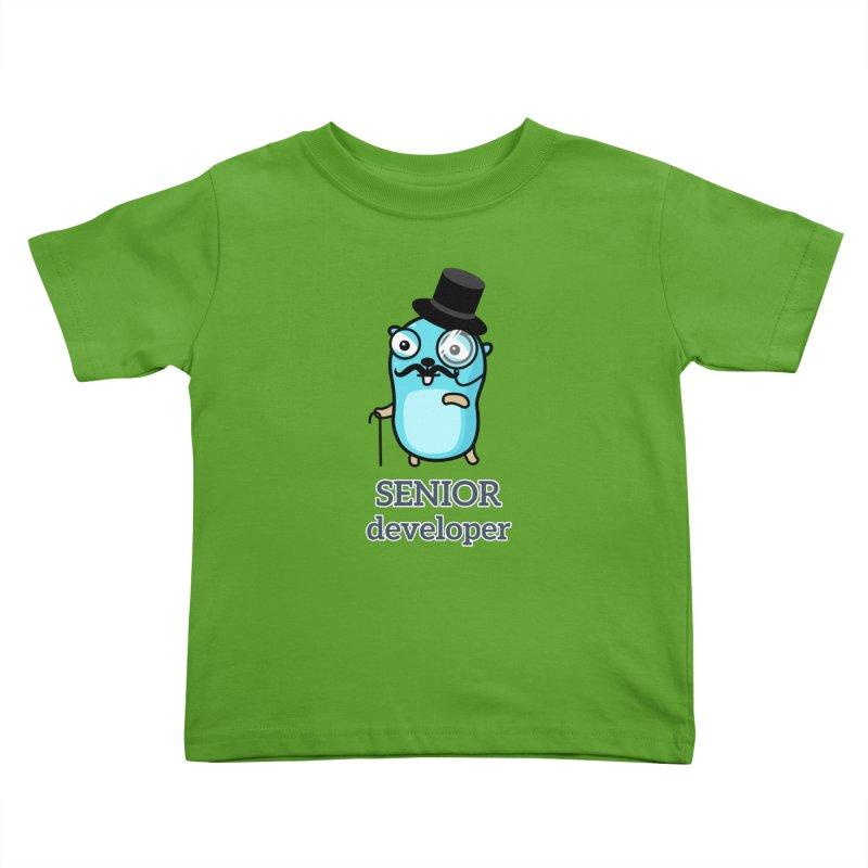 senior developer Kids Toddler T-Shirt by Be like a Gopher