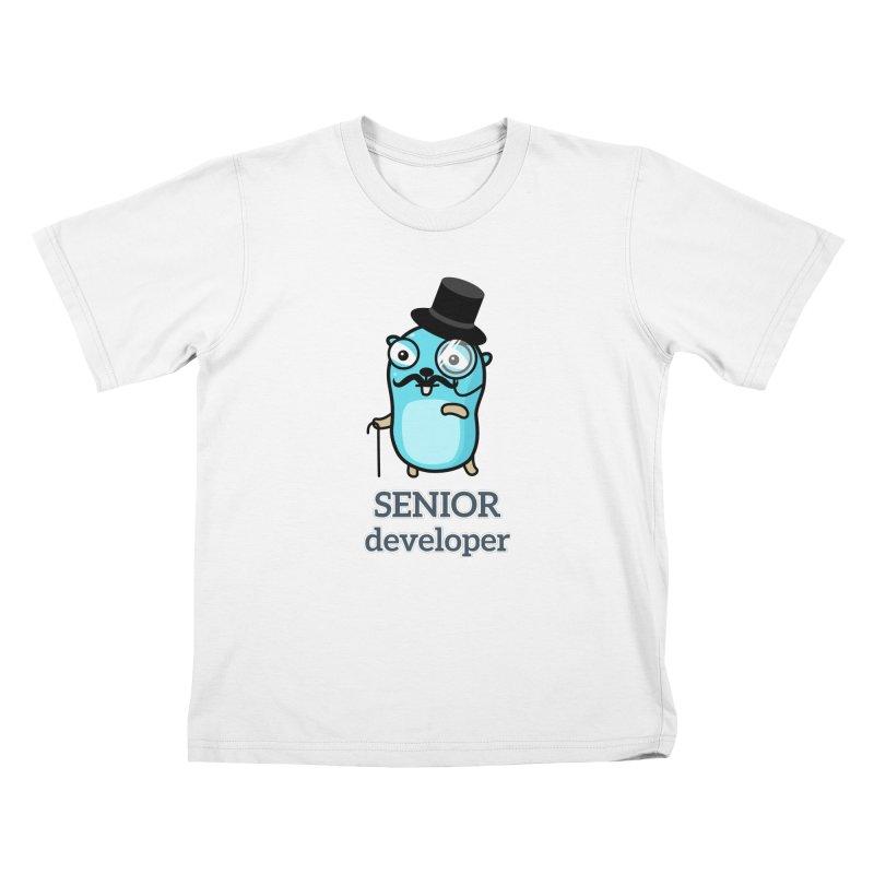 senior developer Kids T-Shirt by Be like a Gopher