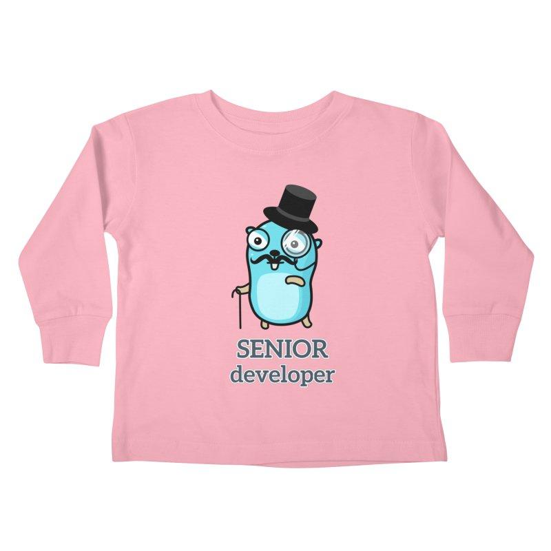 senior developer Kids Toddler Longsleeve T-Shirt by Be like a Gopher