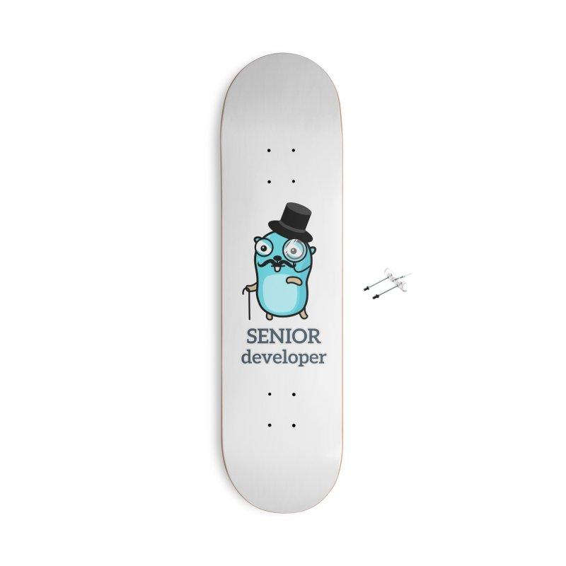 senior developer Accessories Skateboard by Be like a Gopher