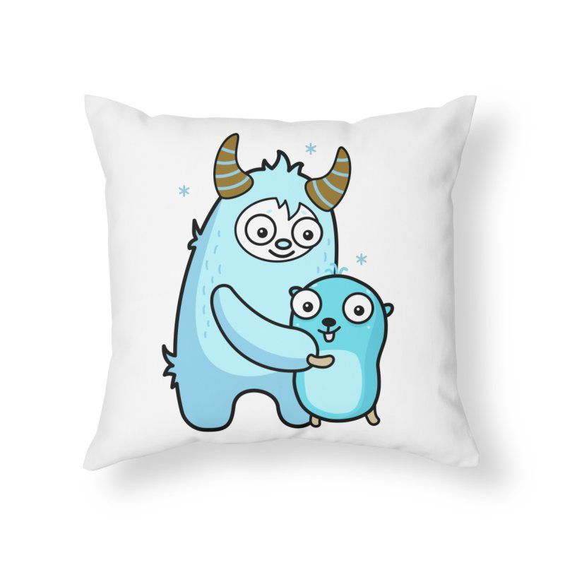My dear Yeti friend Home Throw Pillow by Be like a Gopher
