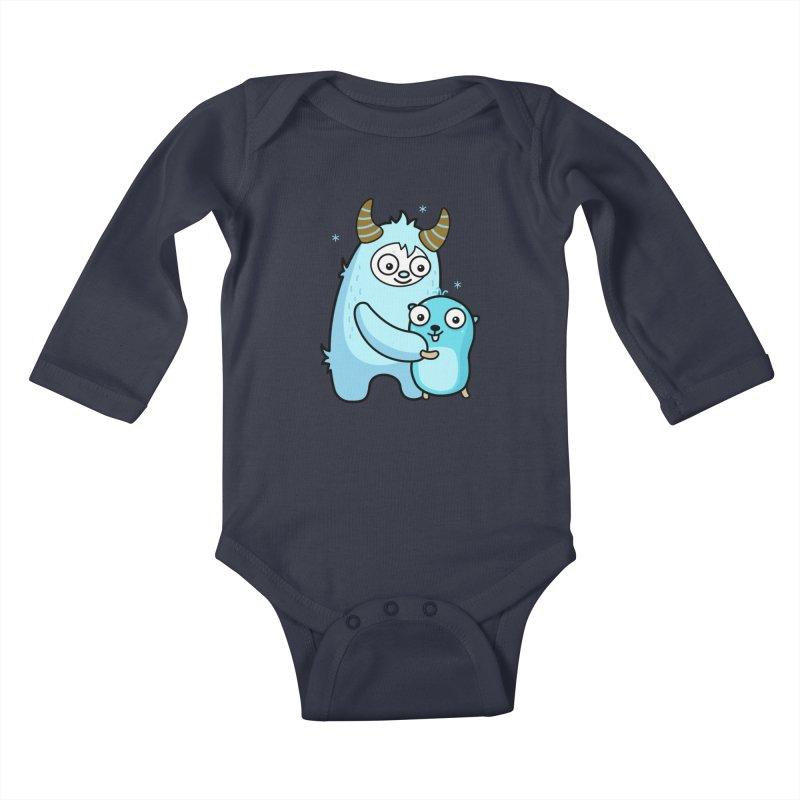 My dear Yeti friend Kids Baby Longsleeve Bodysuit by Be like a Gopher