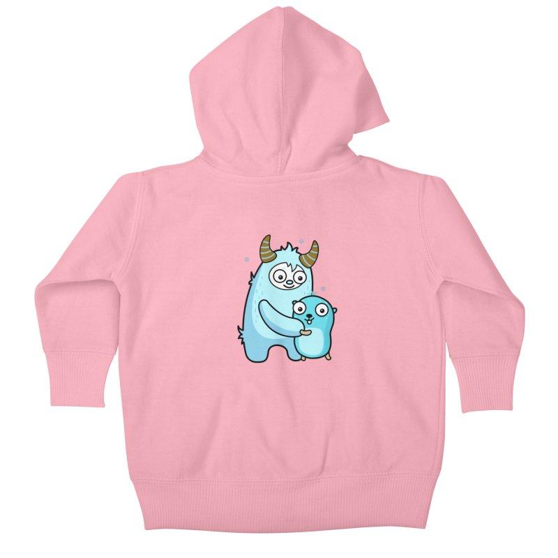 My dear Yeti friend Kids Baby Zip-Up Hoody by Be like a Gopher