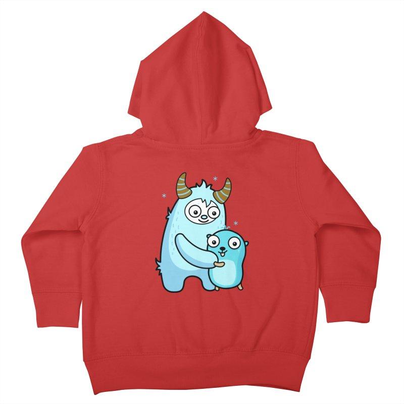 My dear Yeti friend Kids Toddler Zip-Up Hoody by Be like a Gopher