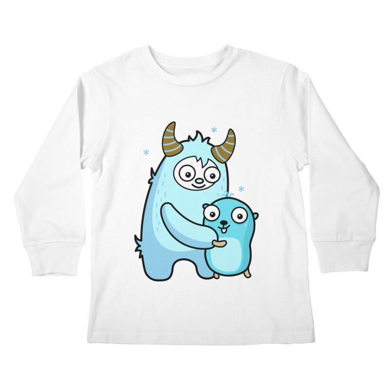 My dear Yeti friend Kids Longsleeve T-Shirt by Be like a Gopher