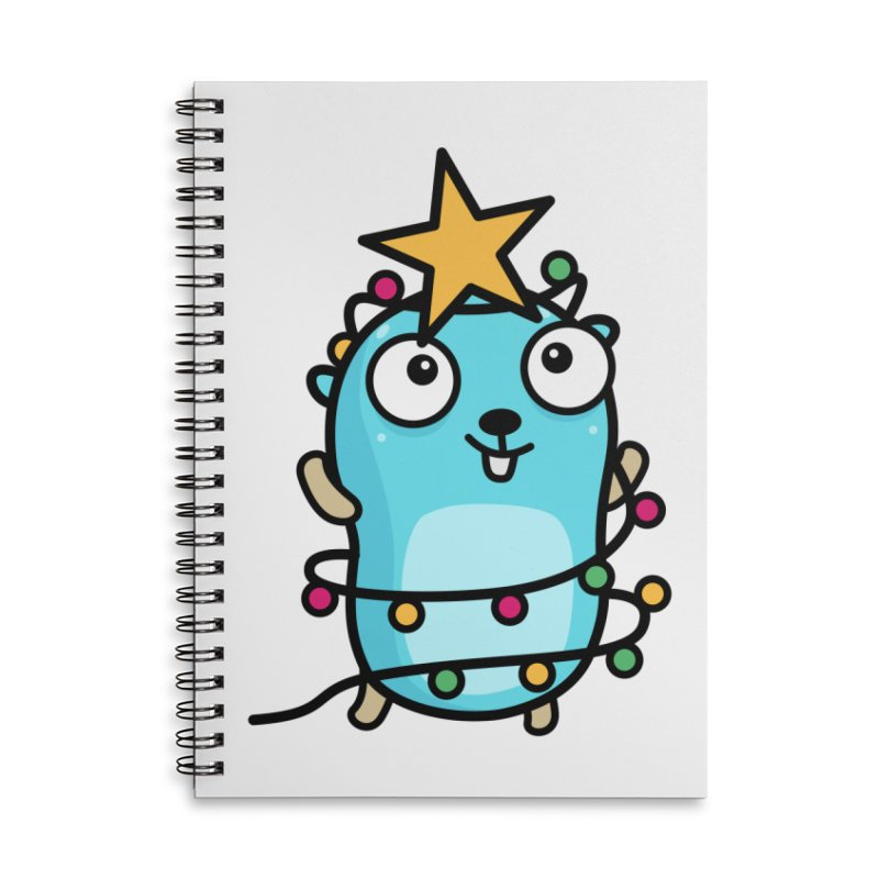 Christmas time Accessories Notebook by Be like a Gopher
