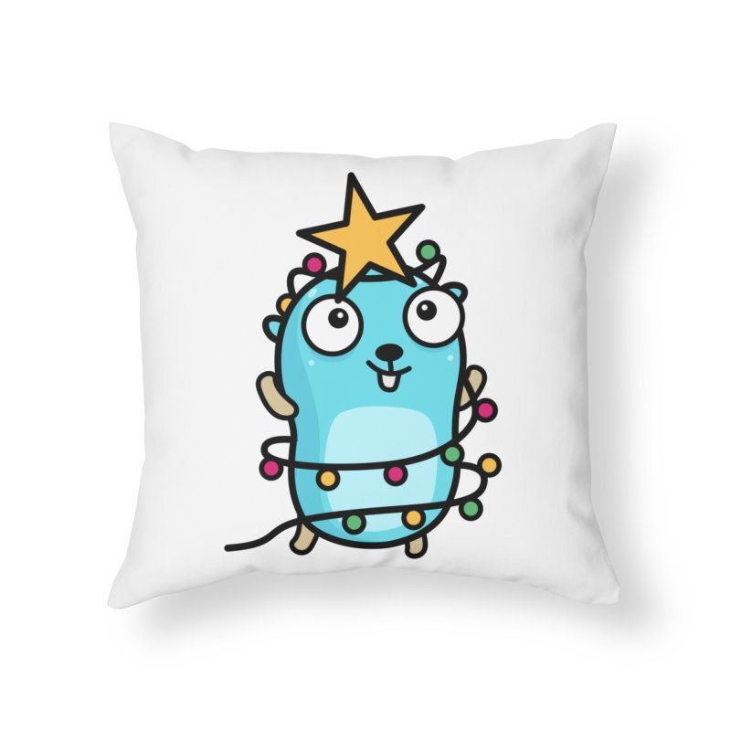Christmas time Home Throw Pillow by Be like a Gopher