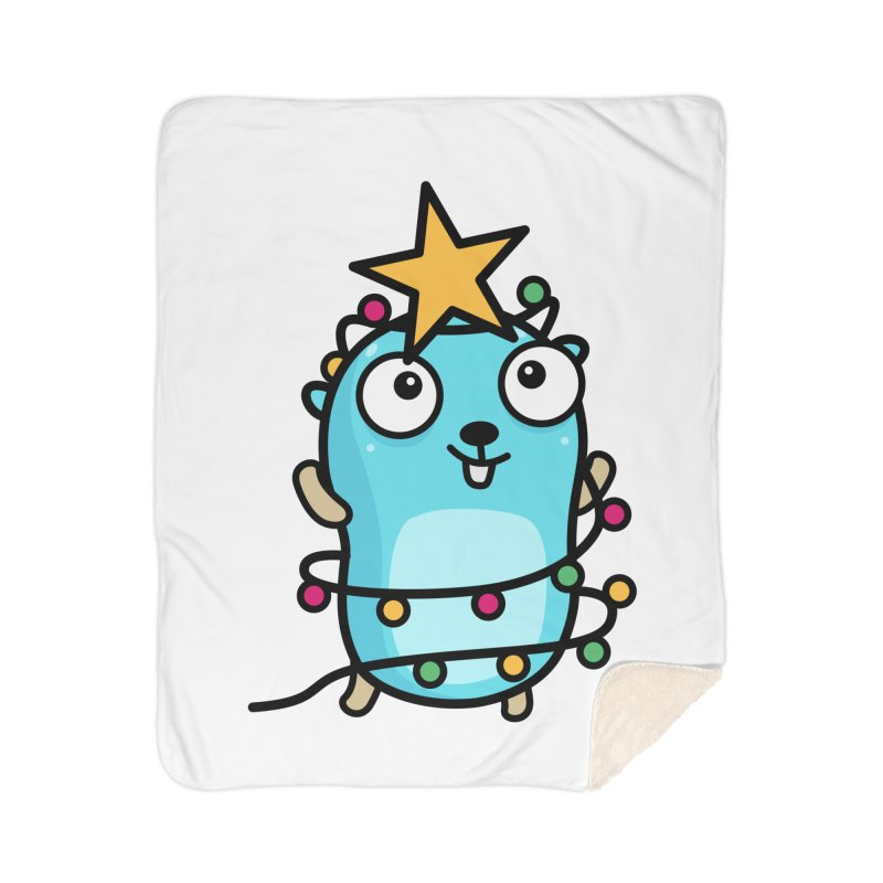 Christmas time Home Blanket by Be like a Gopher