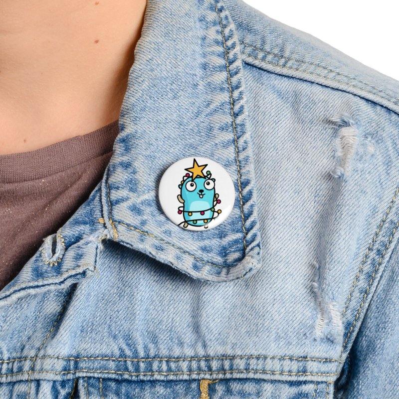Christmas time Accessories Button by Be like a Gopher