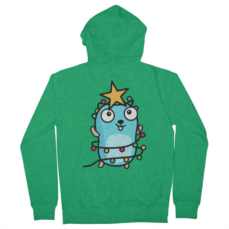Christmas time Men's Zip-Up Hoody by Be like a Gopher