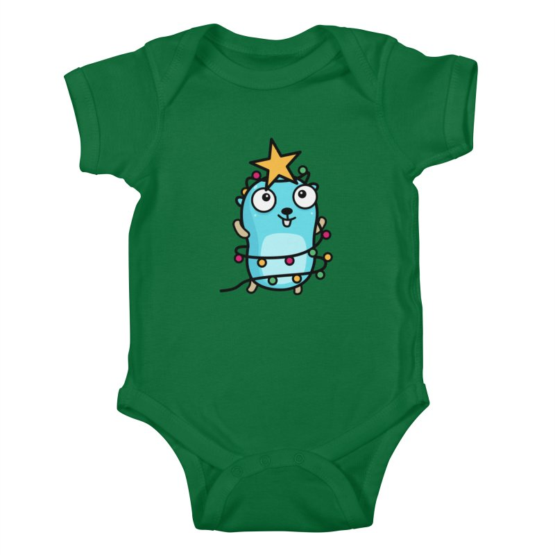 Christmas time Kids Baby Bodysuit by Be like a Gopher