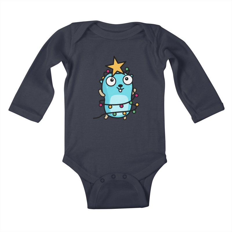 Christmas time Kids Baby Longsleeve Bodysuit by Be like a Gopher