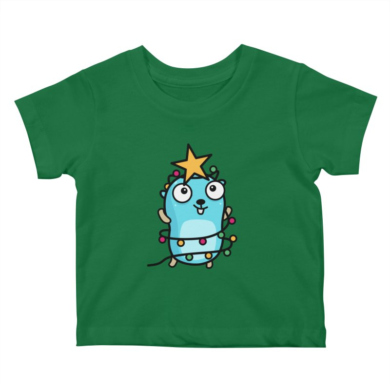 Christmas time Kids Baby T-Shirt by Be like a Gopher