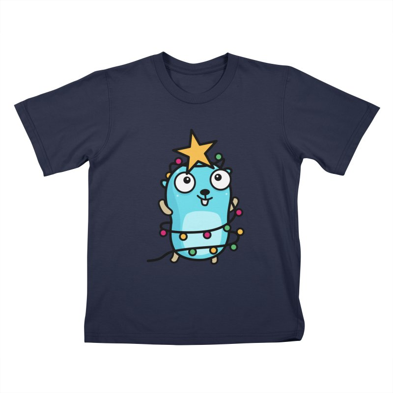 Christmas time Kids T-Shirt by Be like a Gopher