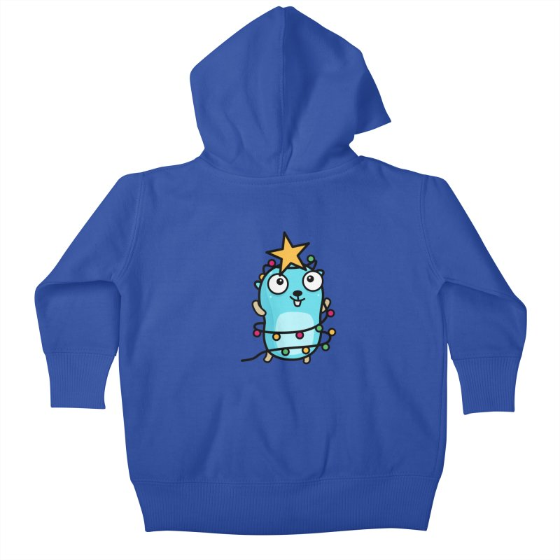 Christmas time Kids Baby Zip-Up Hoody by Be like a Gopher