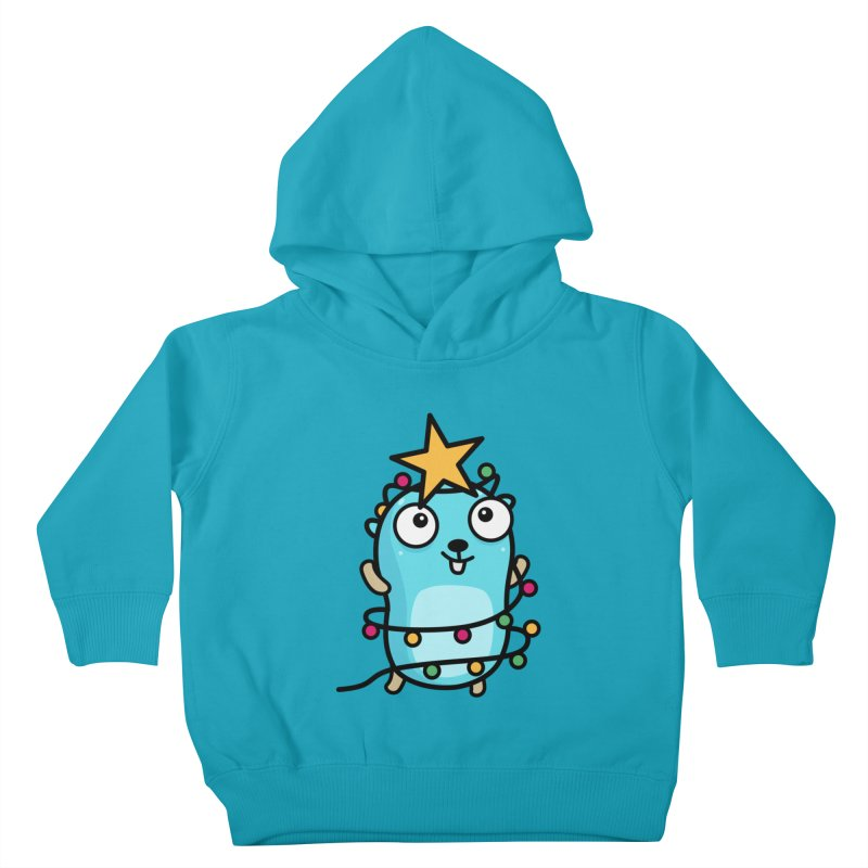 Christmas time Kids Toddler Pullover Hoody by Be like a Gopher