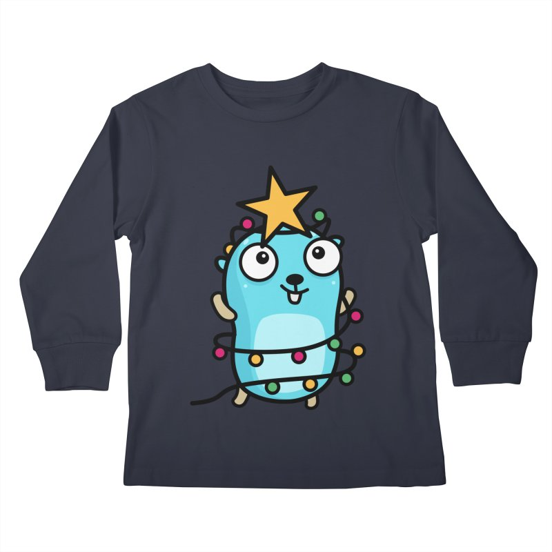 Christmas time Kids Longsleeve T-Shirt by Be like a Gopher