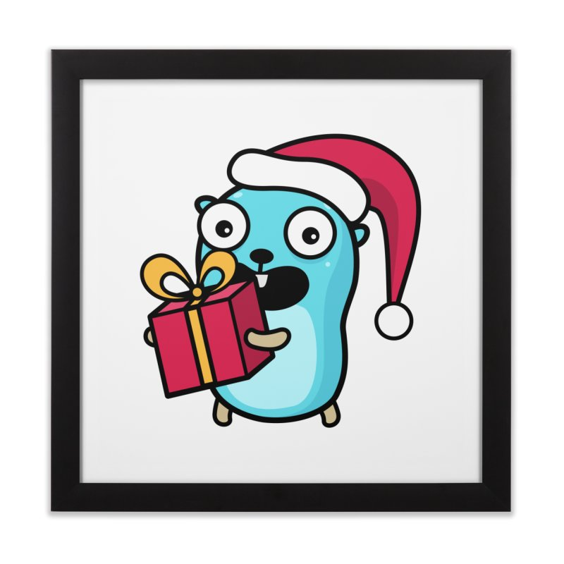 I'm your Santa! Home Framed Fine Art Print by Be like a Gopher