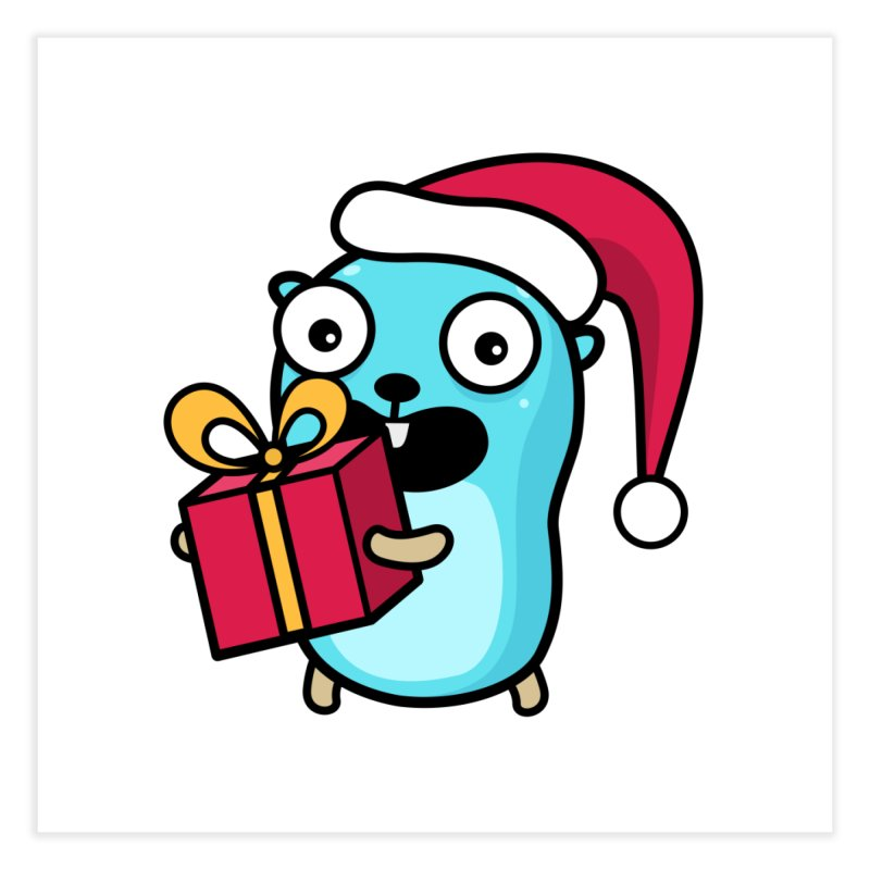 I'm your Santa! Home Fine Art Print by Be like a Gopher