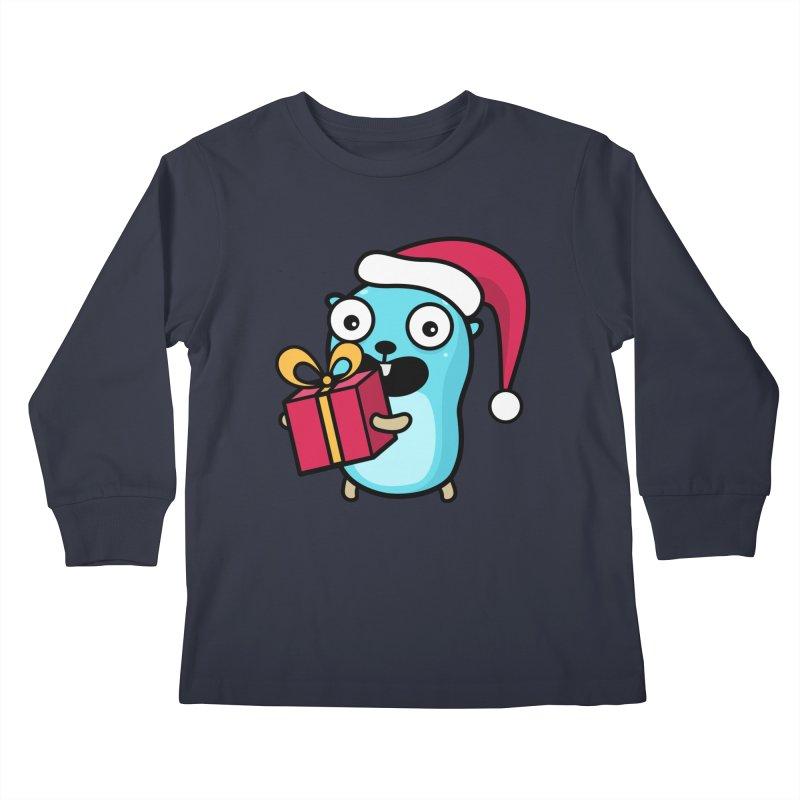 I'm your Santa! Kids Longsleeve T-Shirt by Be like a Gopher