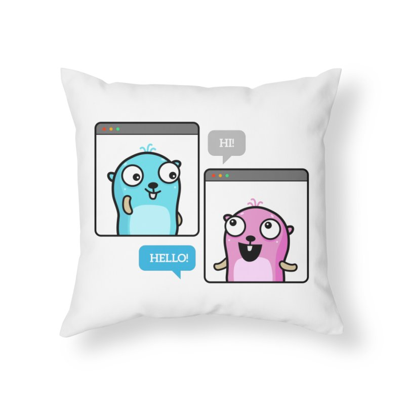 Hi! Home Throw Pillow by Be like a Gopher