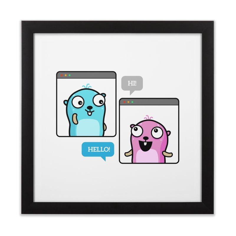Hi! Home Framed Fine Art Print by Be like a Gopher