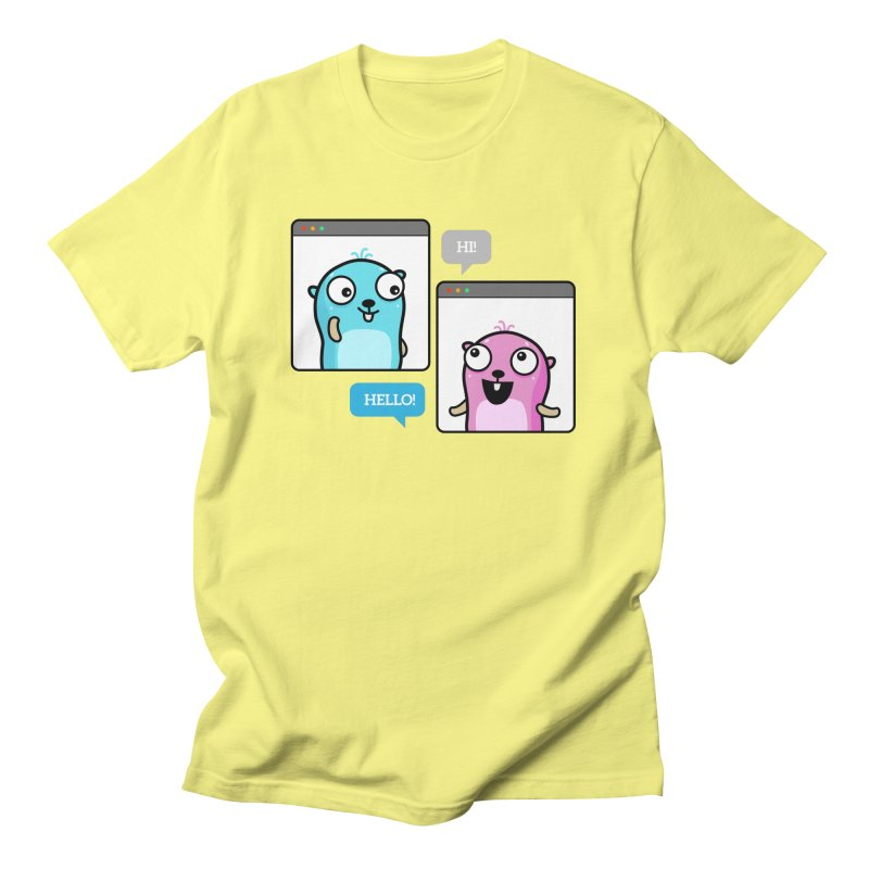 Hi! Men's T-Shirt by Be like a Gopher
