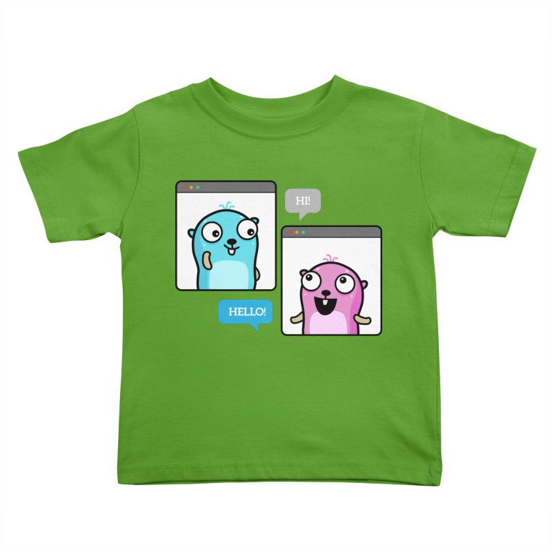 Hi! Kids Toddler T-Shirt by Be like a Gopher