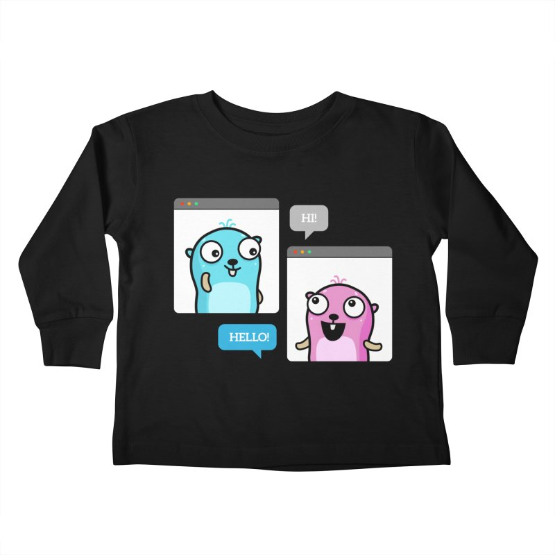 Hi! Kids Toddler Longsleeve T-Shirt by Be like a Gopher