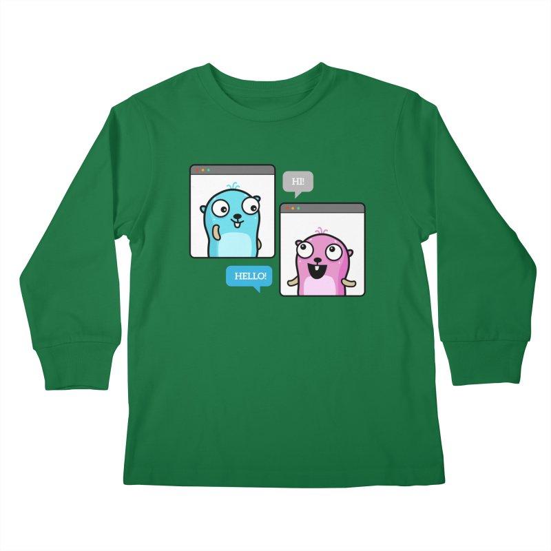 Hi! Kids Longsleeve T-Shirt by Be like a Gopher