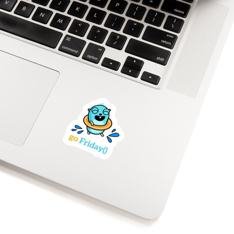 go Friday() Accessories Sticker by Be like a Gopher