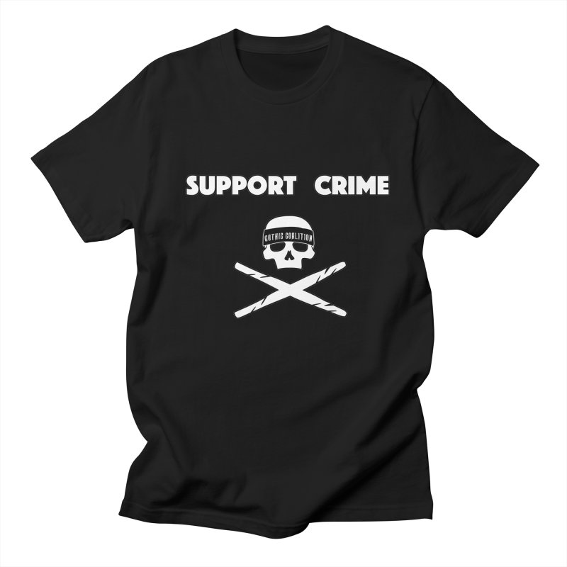 SupportCime Men's Regular T-Shirt by Gothic Coalition Clothing