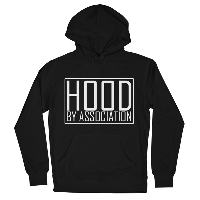 HBA WHITE Men's French Terry Pullover Hoody by Gothic Coalition Clothing