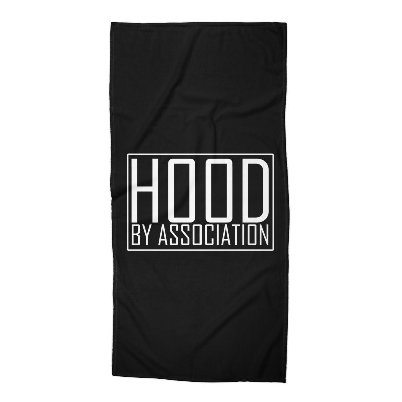 HBA WHITE Accessories Beach Towel by Gothic Coalition Clothing