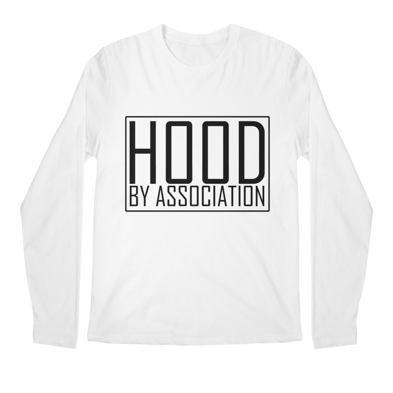HBA BLACK Men's Longsleeve T-Shirt by Gothic Coalition Clothing
