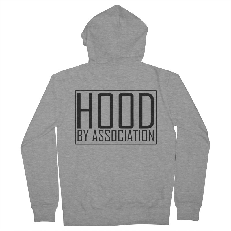 HBA BLACK Men's French Terry Zip-Up Hoody by Gothic Coalition Clothing