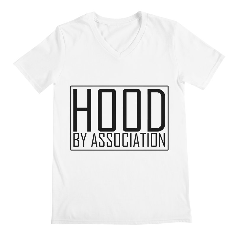 HBA BLACK Men's Regular V-Neck by Gothic Coalition Clothing