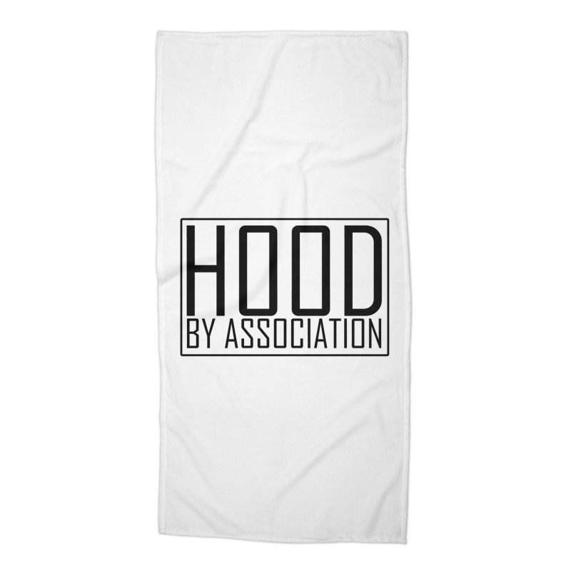 HBA BLACK Accessories Beach Towel by Gothic Coalition Clothing
