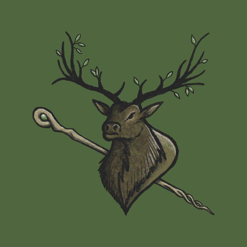 Heraldic Elk | Emblem of the Darasfaerim Men's T-Shirt by Gray Wolf Creative
