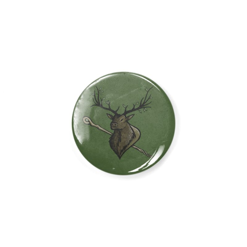 Heraldic Elk | Emblem of the Darasfaerim (with Background) Accessories Button by Gray Wolf Creative
