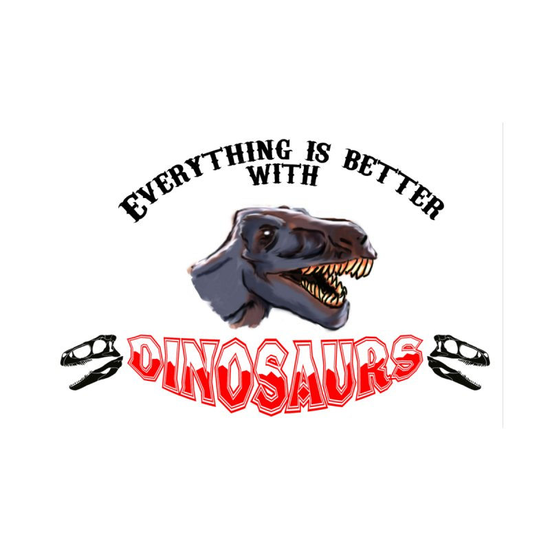 Everything's Better with Dinosaurs! Women's Zip-Up Hoody by Raptor Co. Tees