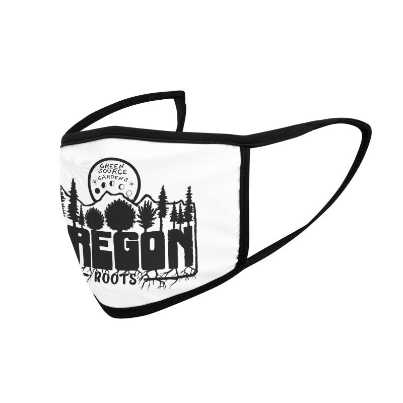 OREGON ROOTS in Black Accessories Face Mask by Green Source Gardens