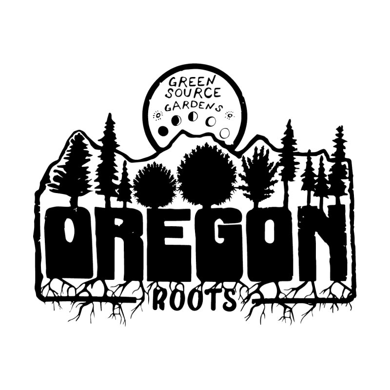 OREGON ROOTS in Black Home Throw Pillow by Green Source Gardens