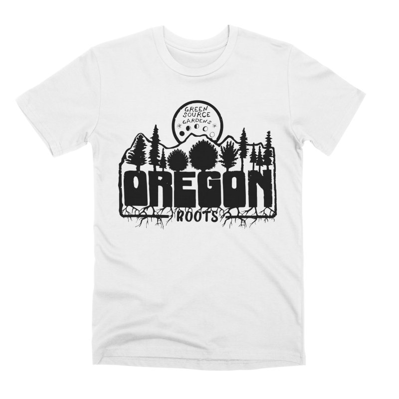 OREGON ROOTS in Black Men's T-Shirt by Green Source Gardens