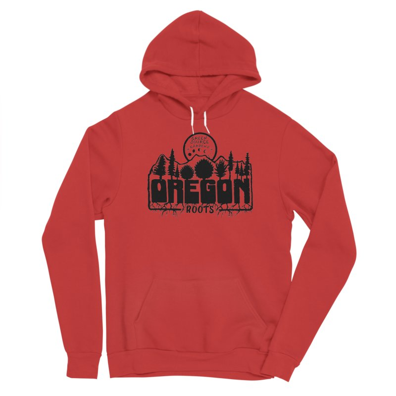 OREGON ROOTS in Black Men's Pullover Hoody by Green Source Gardens