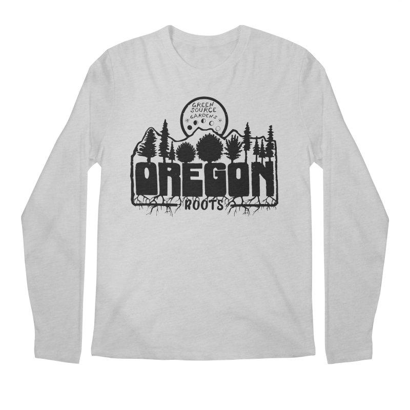OREGON ROOTS in Black Men's Longsleeve T-Shirt by Green Source Gardens